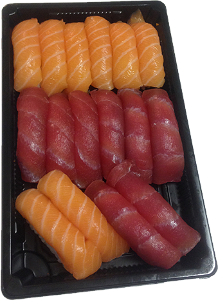 Foto SALMON & TUNA NIGIRI SET (16st)