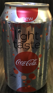 Foto Coca cola Light blik